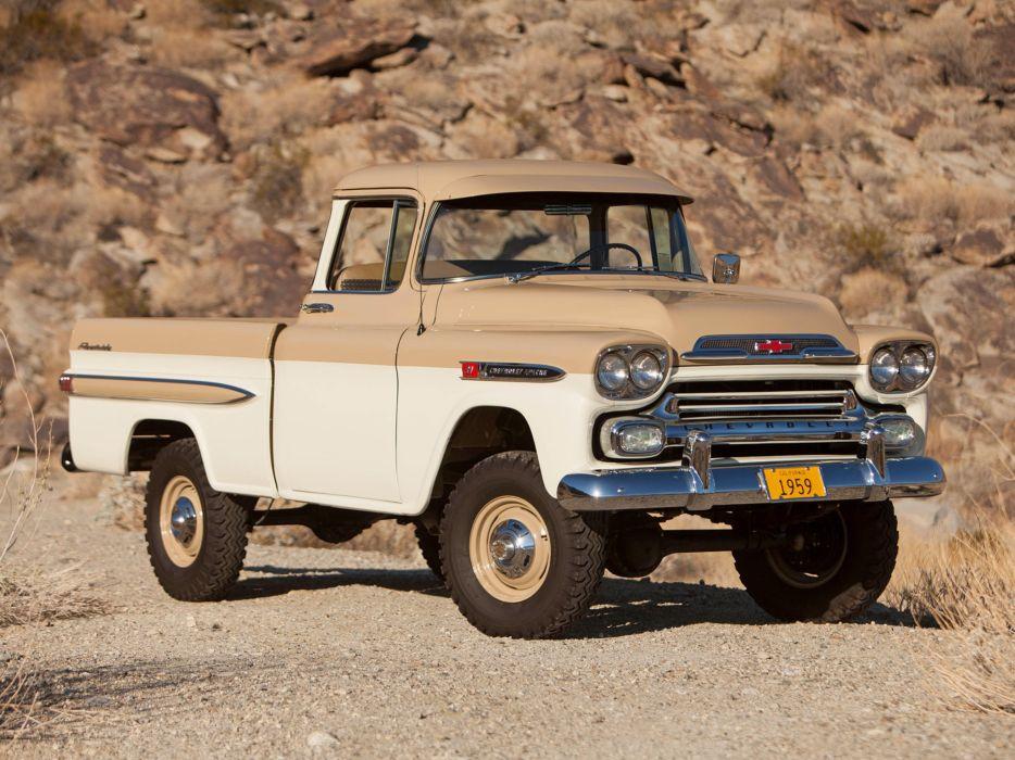 1959 Chevrolet NAPCO Apache 31 Deluxe Fleetside Pickup Truck classic cars wallpaper