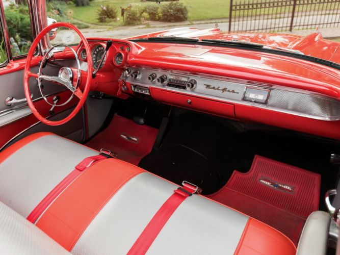 1957 Chevrolet Bel Air Convertible Fuel Injection classic cars wallpaper