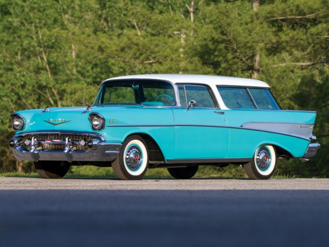 1957 Chevrolet Bel Air Nomad wagon cars classic wallpaper