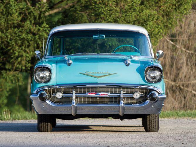 1957 Chevrolet Bel Air Nomad wagon cars classic wallpaper