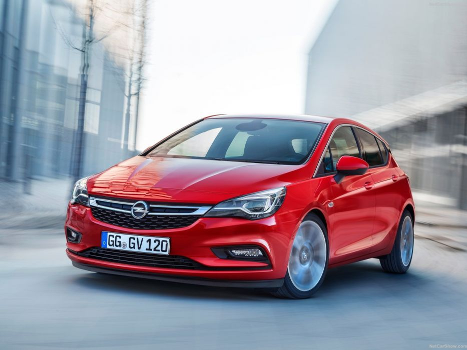 Opel Astra 2016 cars red wallpaper