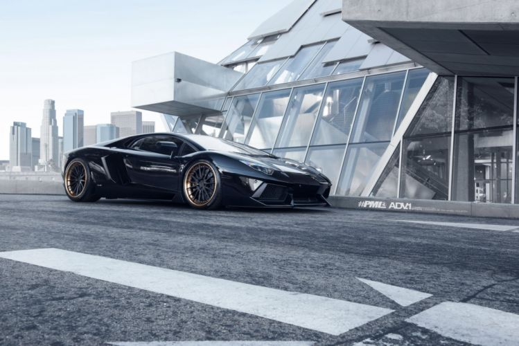 ADV 1 WHEELS LAMBORGHINI AVENTADOR LP700 cars supercars tuning black wallpaper
