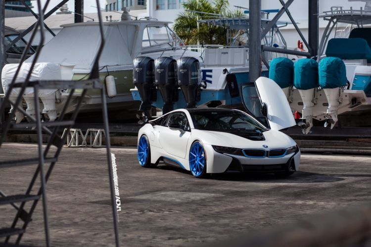 ADV 1 WHEELS BMW-i8 cars electric coupe tuning white wallpaper