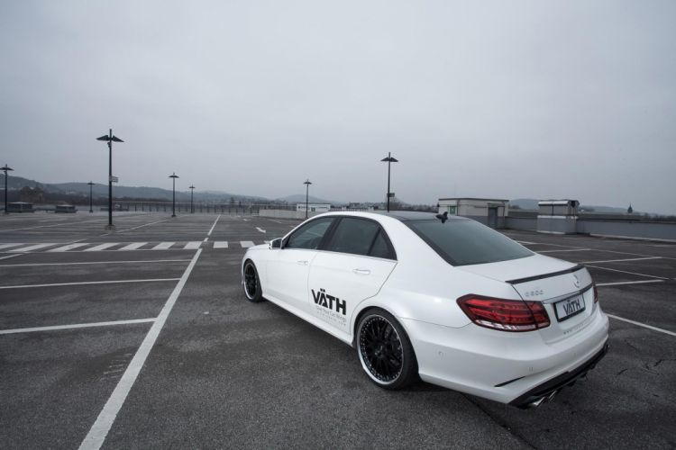 Mercedes Benz E500 facelift VATH cars tuning modified white wallpaper