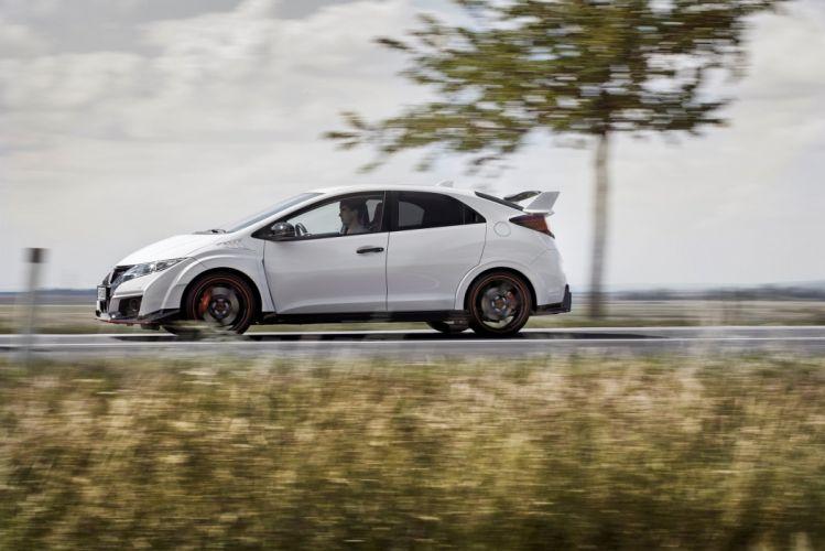 Honda Civic Type-R 2015 cars coupe white wallpaper