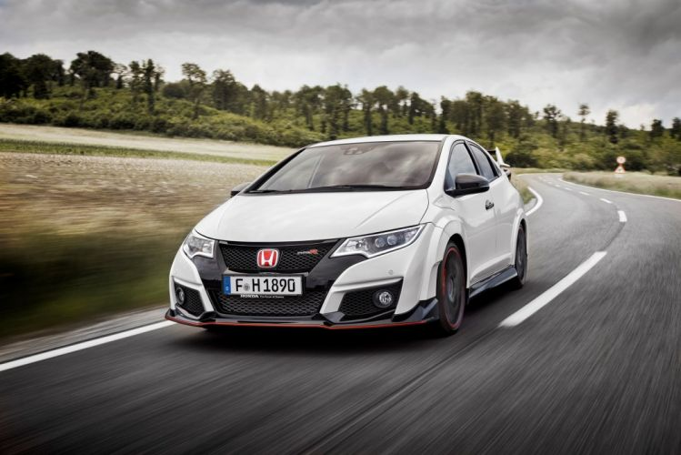 Honda Civic Type-R 2015 cars coupe white wallpaper