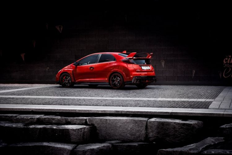 Honda Civic Type-R 2015 cars coupe red wallpaper