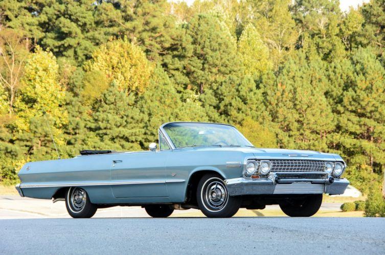 1963 Chevrolet Impala-SS Convertible cars classic wallpaper