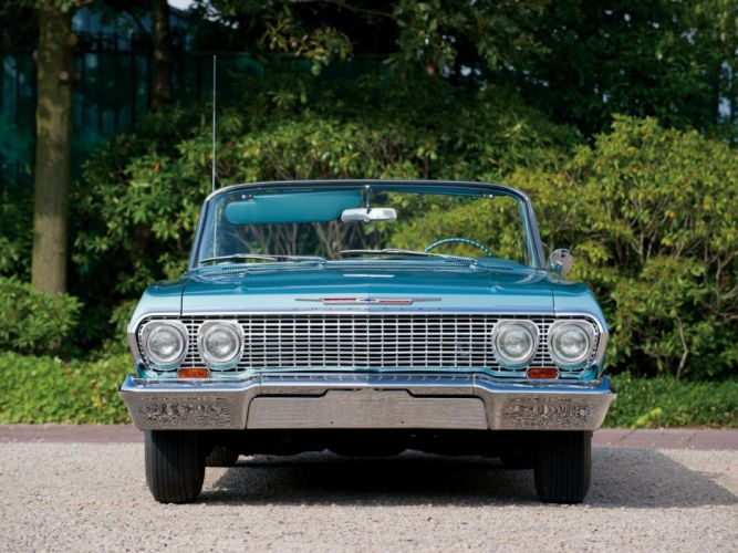 1963 Chevrolet Impala-SS Convertible cars classic wallpaper