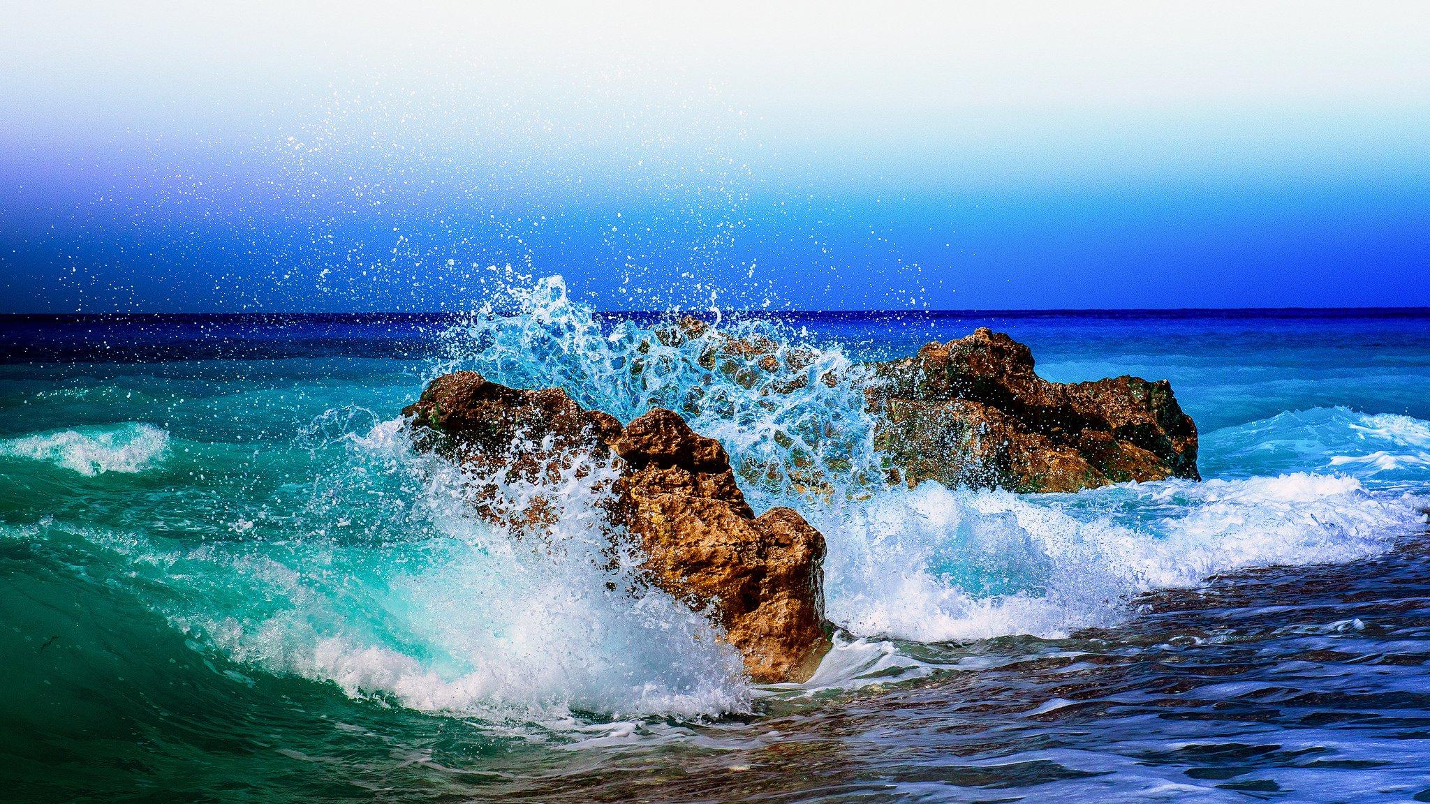 море океан камни скалы закат sea the ocean stones rock sunset  № 2530642  скачать