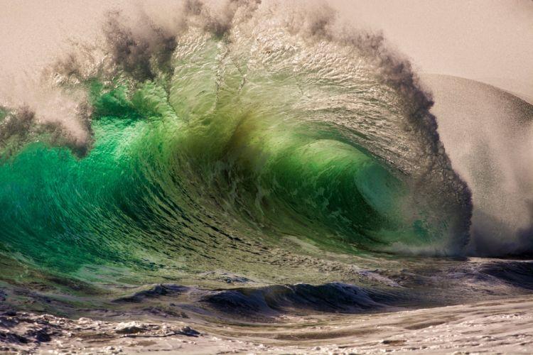 sea ocean waves splashes drops wallpaper