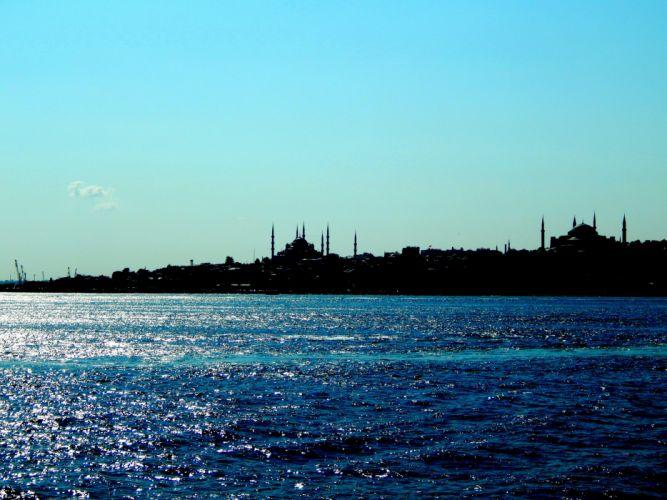Istanbul sultan ahmet mosque Turkey blue sea Bosphorus Ottoman Empire Hagia Sophia wallpaper
