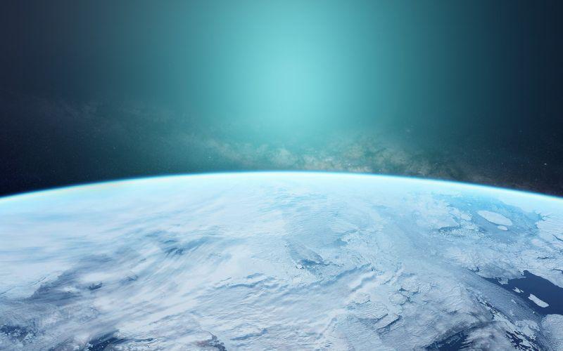 space blue earth winter dark beauty wallpaper