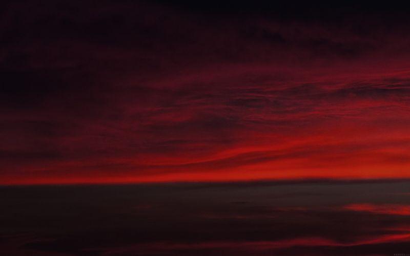 red sky nature landscape wallpaper