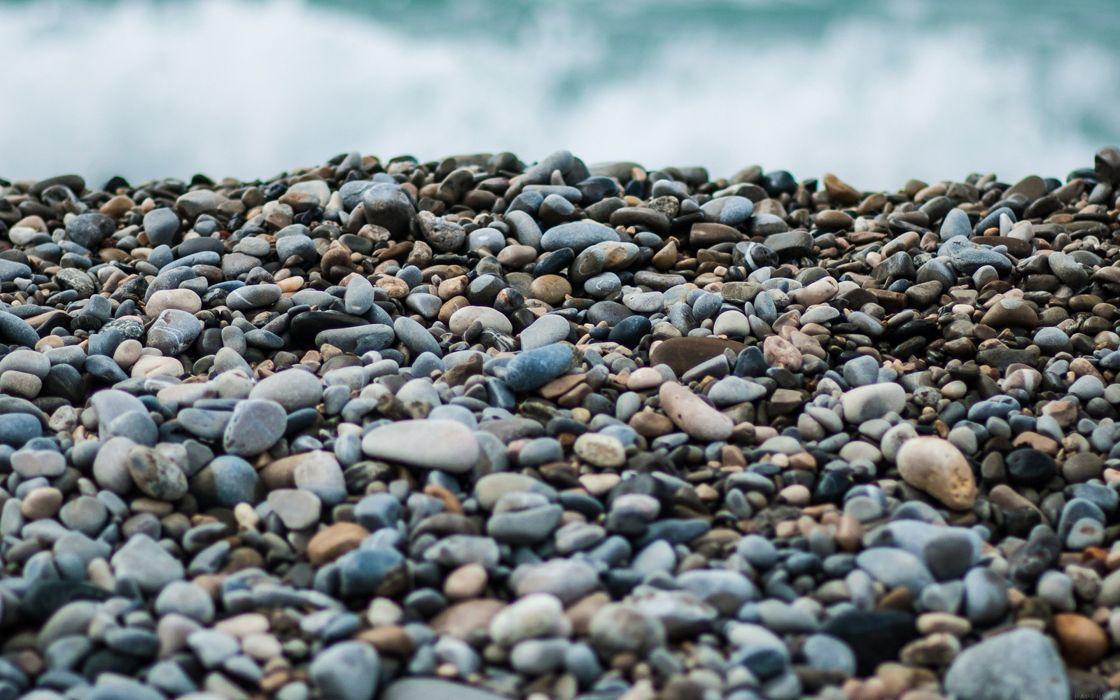 beach stones sea nature wallpaper