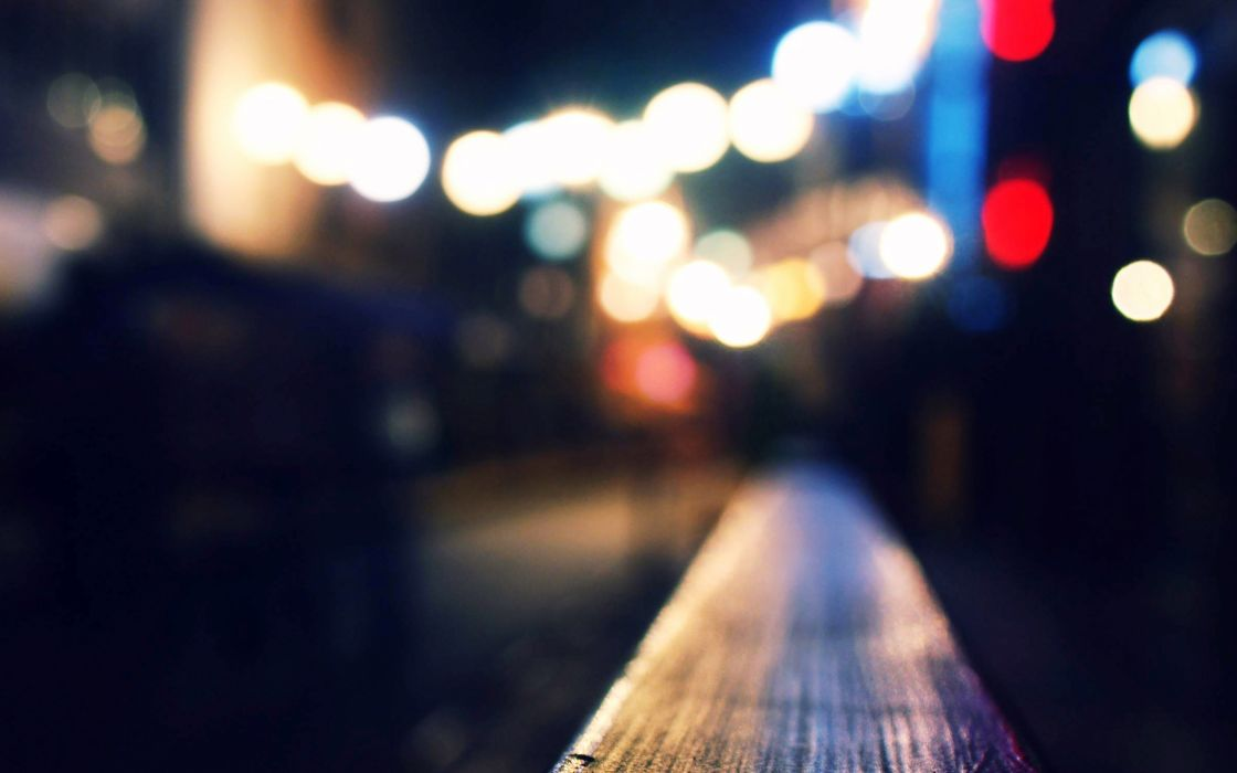 bokeh blue love night siren lights city wallpaper