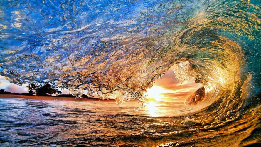 water sea waves beauty beautiful sun wallpaper