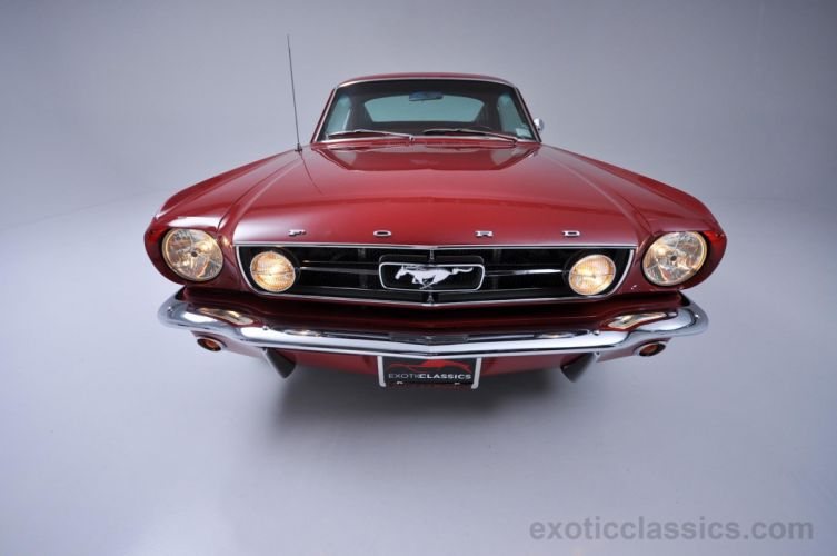 1965 ford mustang fastback classic coupe red wallpaper