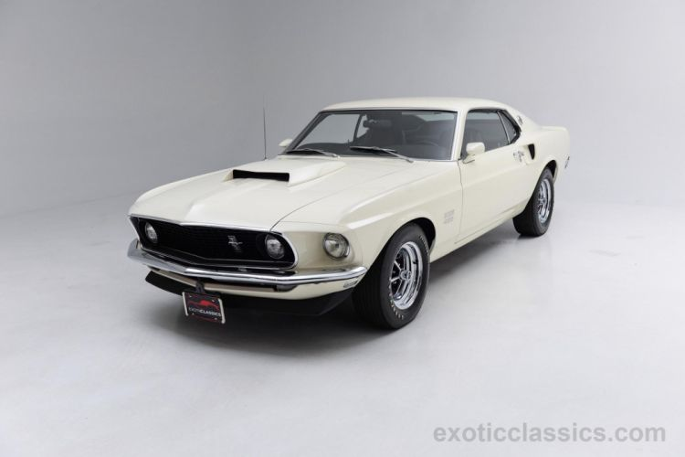 1969 Ford Mustang Boss 429 Sportsroof classic coupe white wallpaper