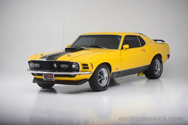 1970 Ford Mustang Mach-1 cars classic YELLOW wallpaper