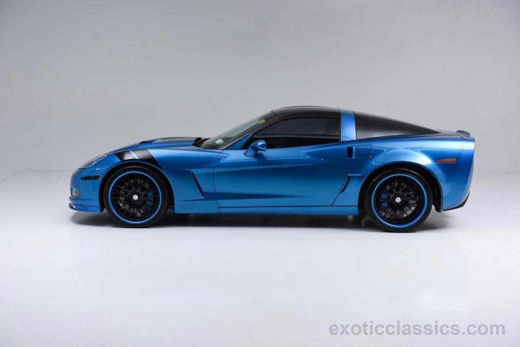2008 Chevrolet Corvette Coupe hartop Blue cars wallpaper