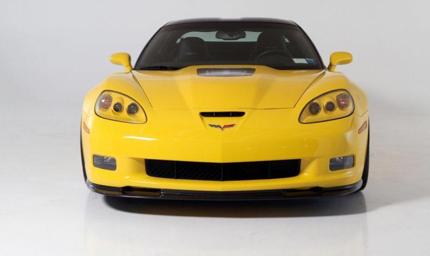 2009 Corvette ZR1 coupe cars YELLOW wallpaper