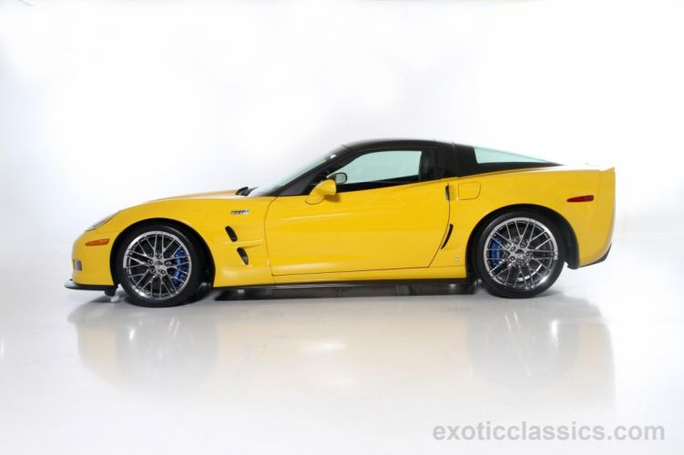 2009 Corvette ZR1 coupe cars YELLOW wallpaper