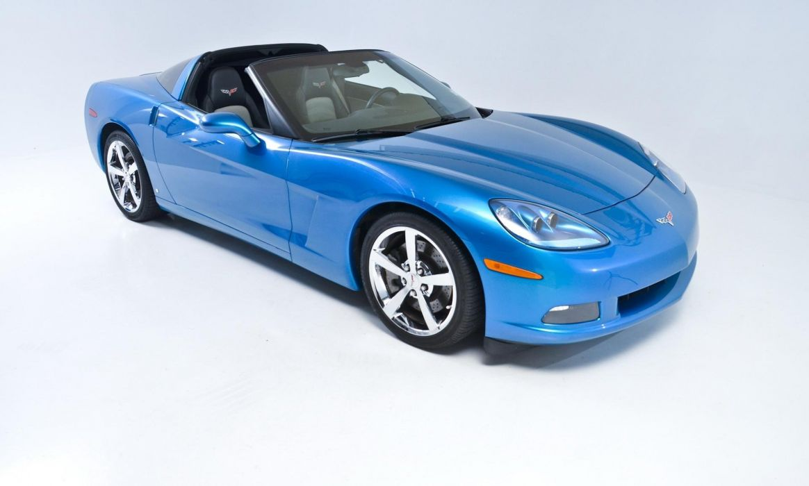 2008 chevrolet chevy Corvette coupe cars blue wallpaper