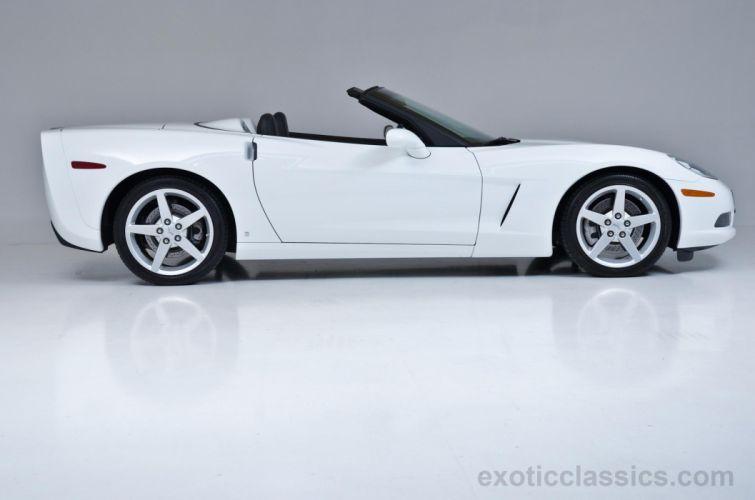 20078 Chevrolet Corvette convertible cars white wallpaper