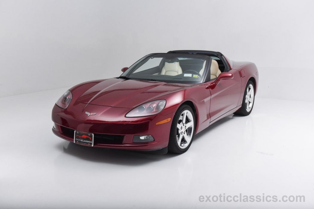2007 Chevrolet Corvette coupe Monterey Red Metallic cars panoramic roof wallpaper