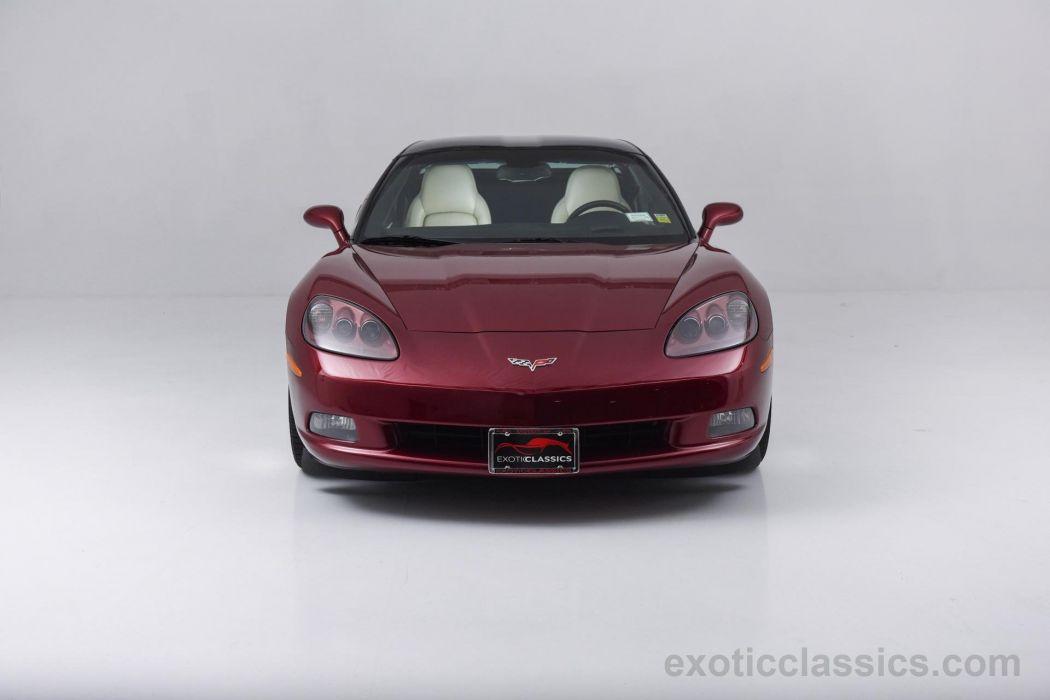 2007 Chevrolet Corvette coupe Monterey Red Metallic cars panoramic roof wallpaper