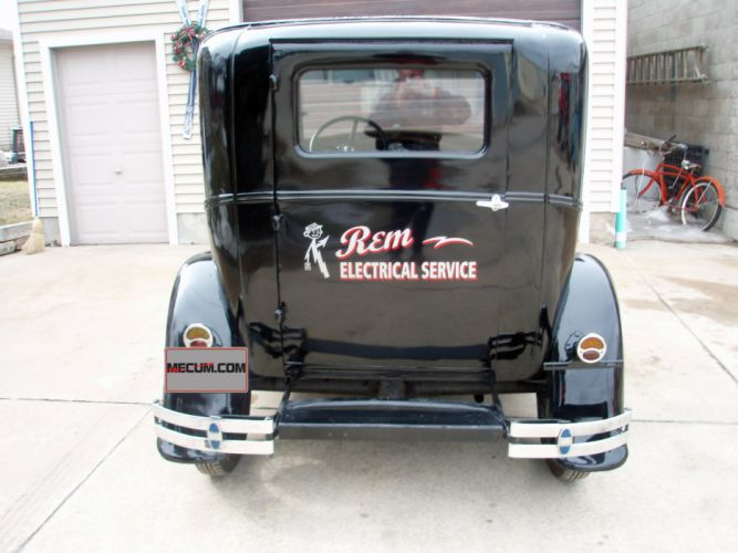 1930 Ford Model-A Sedan Delivery Classic Old Retro Vintage Original Black USA -05 wallpaper