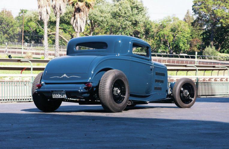 1932 Ford Coupe Three Window Hot Rod Street Custom Old School USA -02 wallpaper