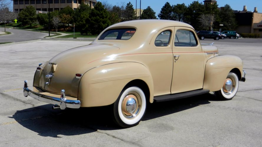1940 Dodge Luxury Liner De Luxe Coupe Classic Old Retro Vintage Original USA -03 wallpaper