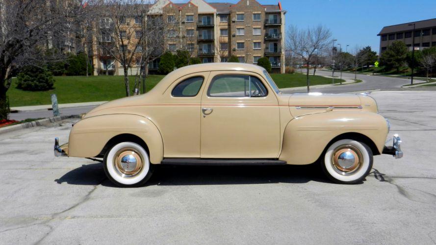 1940 Dodge Luxury Liner De Luxe Coupe Classic Old Retro Vintage Original USA -02 wallpaper
