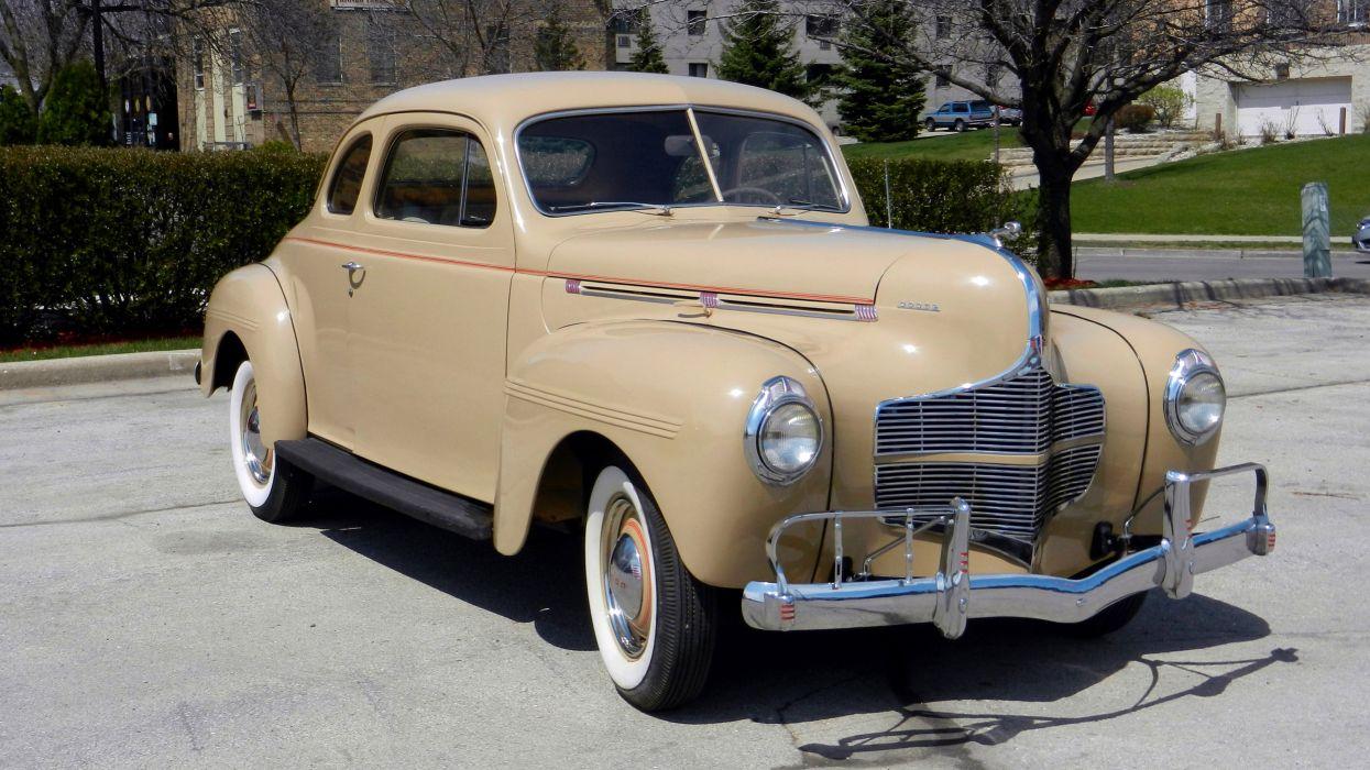 1940 Dodge Luxury Liner De Luxe Coupe Classic Old Retro Vintage Original USA -01 wallpaper