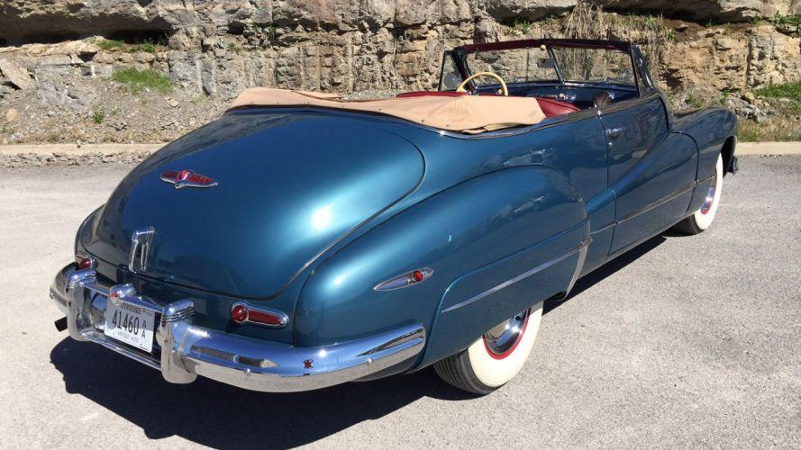 1947 Buick Roadmaster Super Eight Convertible Classic Old Retro Vintage Original USA -04 wallpaper