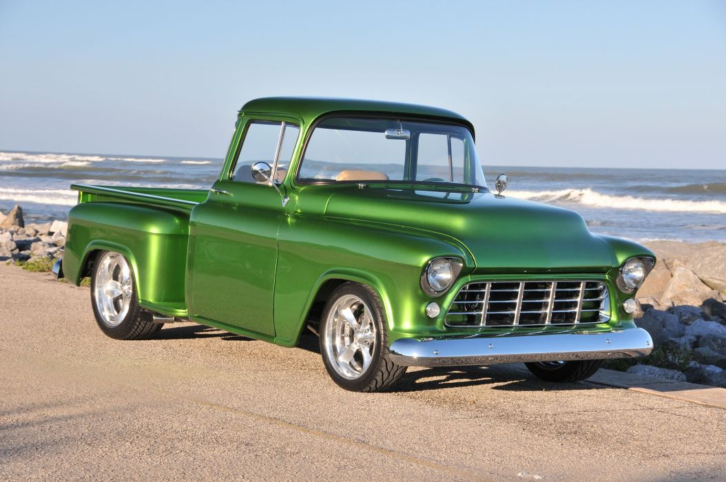 1955 Chevrolet Chevy 3100 Pickup Stepside Street Rod Hot USA -03 wallpaper