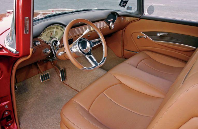 1956 Chevrolet Chevy 210 Bel Air Belair Coupe Streetrod Street Rod Hot USA -02 wallpaper
