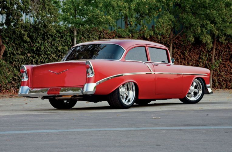 1956 Chevrolet Chevy 210 Bel Air Belair Coupe Streetrod Street Rod Hot USA -03 wallpaper