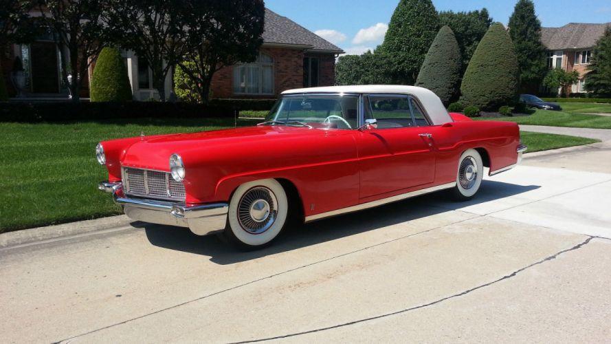 1956 Lincoln Premiere Coupe Classic Old Retro Vintage Original USA -01 wallpaper