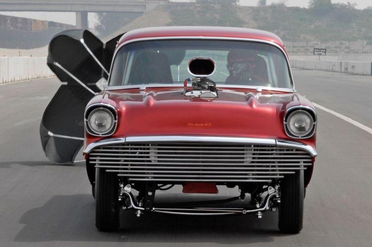 1957 Chevrolet Chevy Gasser Drag Dragster Race USA -03 wallpaper