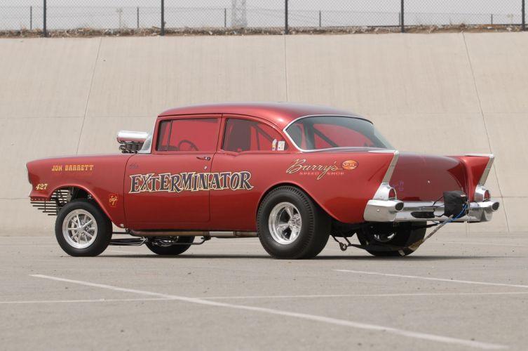 1957 Chevrolet Chevy Gasser Drag Dragster Race USA -05 wallpaper