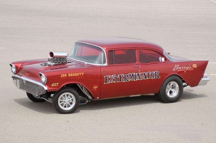 1957 Chevrolet Chevy Gasser Drag Dragster Race USA -06 wallpaper