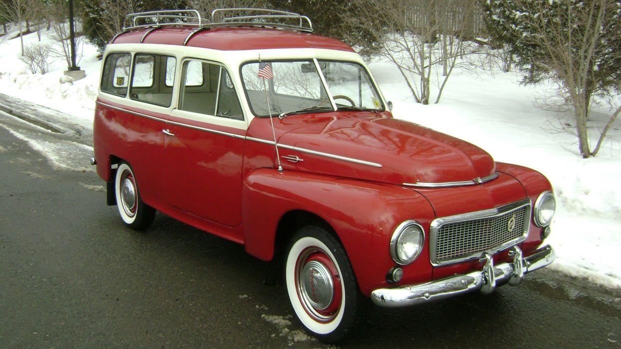 1958 Volvo PV445 PH Duett Station Wagon Classic Old Retro Vintage -01 wallpaper