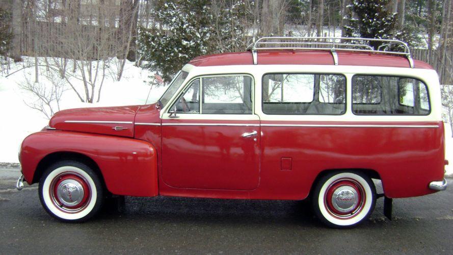 1958 Volvo PV445 PH Duett Station Wagon Classic Old Retro Vintage -02 wallpaper