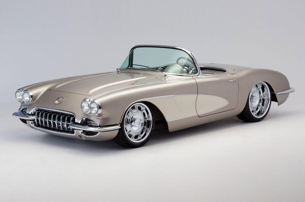 1959 Chevrolet Chevy Corvette Streetrod Street Rod Hot Pro Touring USA -07 wallpaper