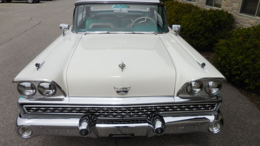 1959 Ford Galaxie Convertible Classic Old Retro Vintage Original USA -06 wallpaper