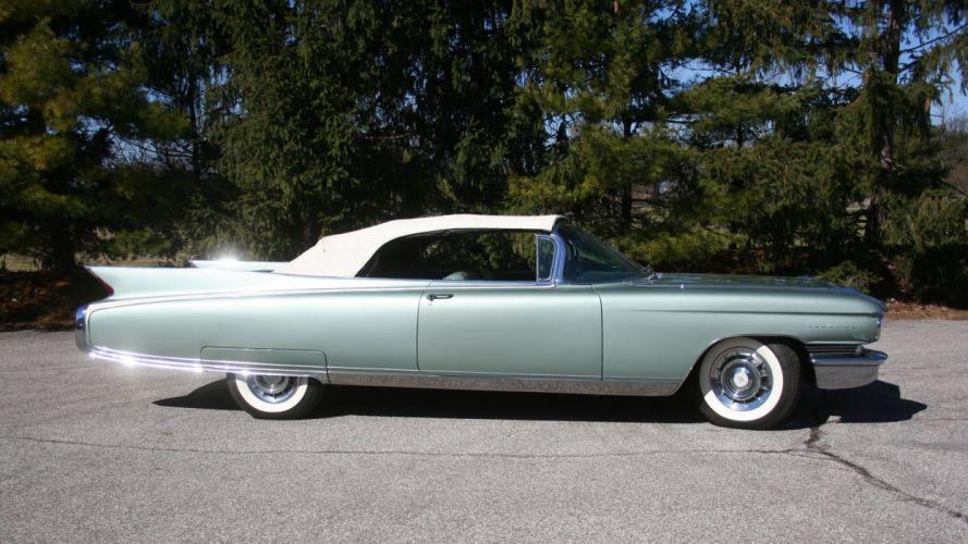 1960 Cadillac Eldorado Biarritz Convertible Classic Old Retro Vintage Original USA -03 wallpaper