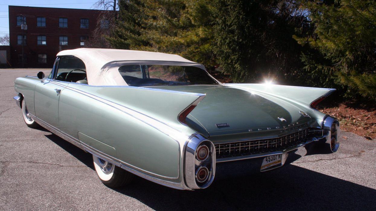 1960 Cadillac Eldorado Biarritz Convertible Classic Old Retro Vintage Original USA -04 wallpaper